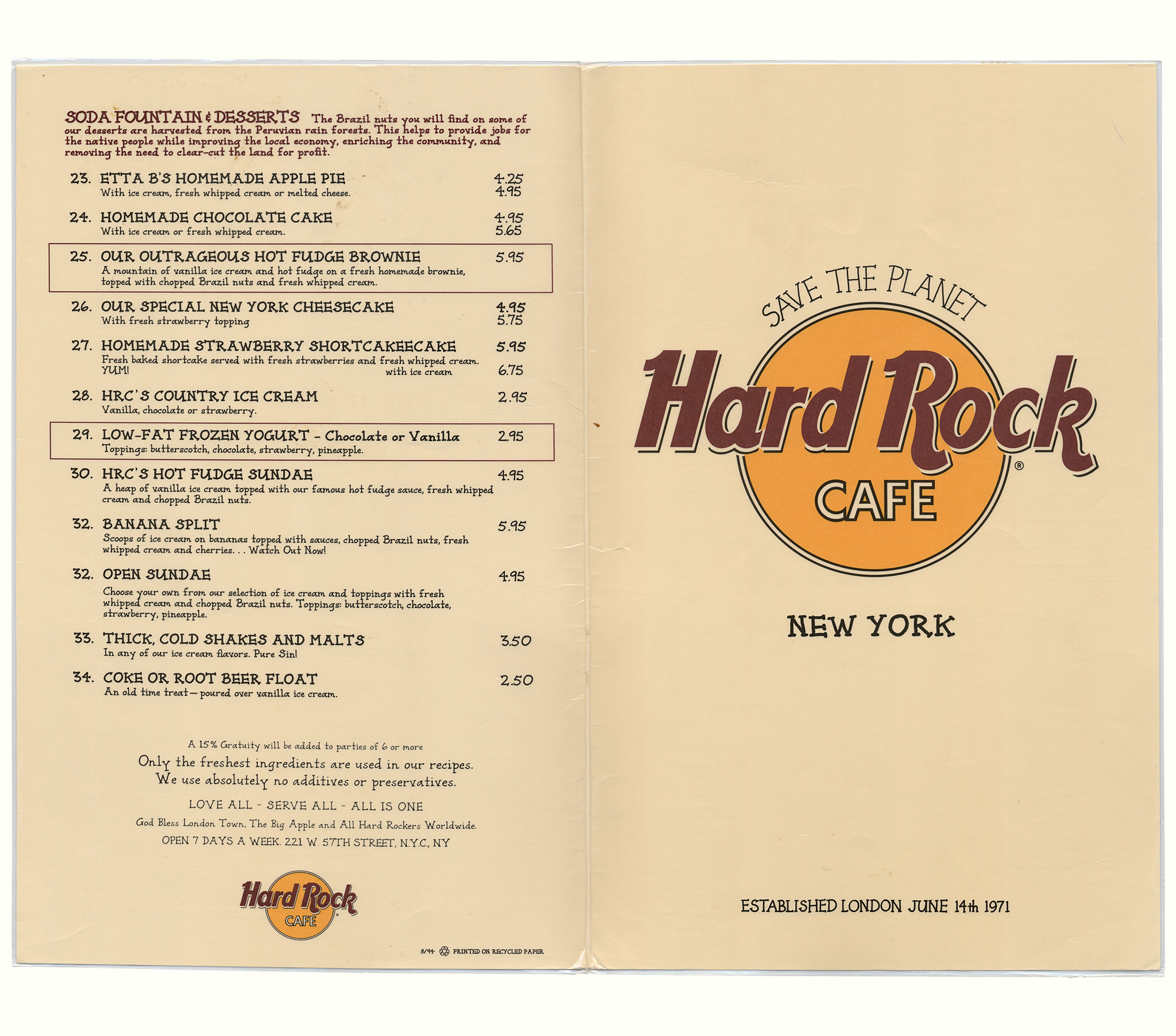 Hard Rock Cafe Berlin Menu Prices